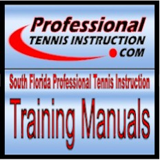 South Florida Professional Tennis Instruction - Training Manuals for the self-taught player.